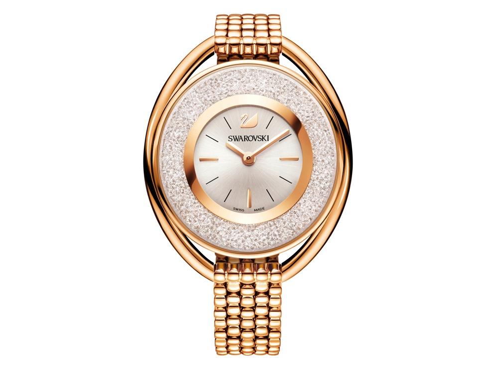 Часы на браслете Crystalline Oval, розовое золото. Swarovski