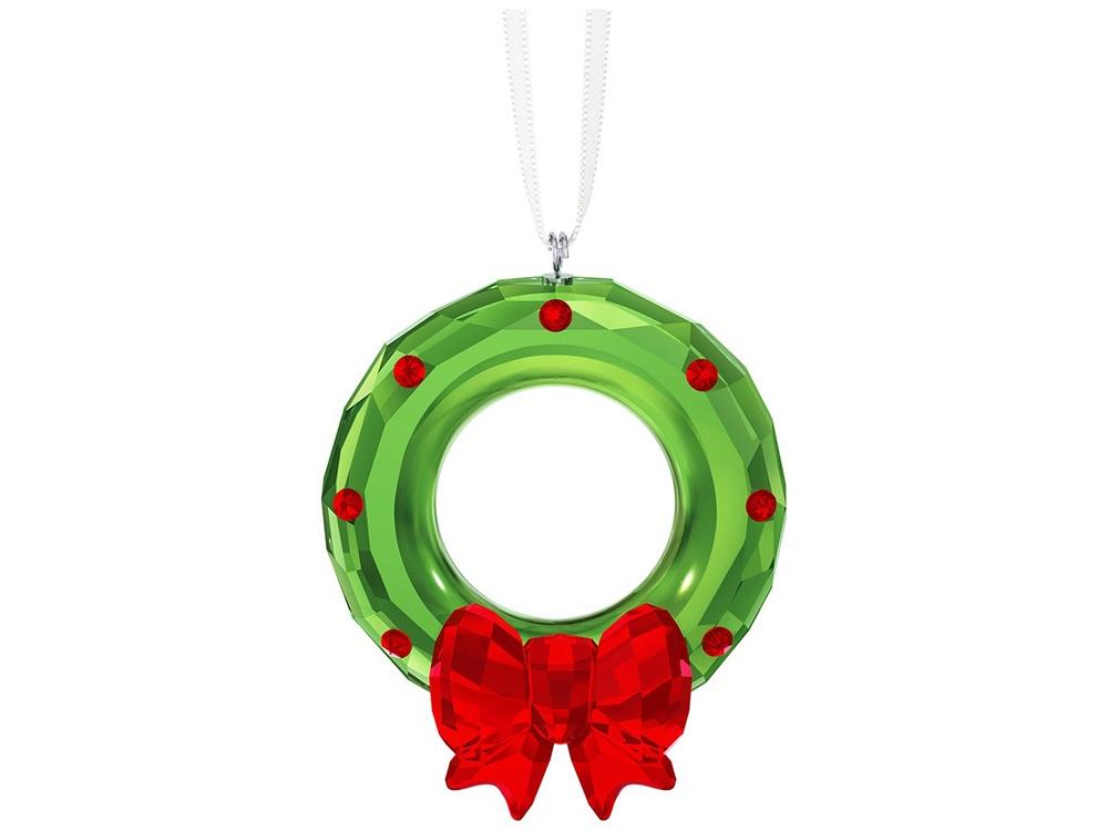 Украшение «Рождественский венок».  Swarovski