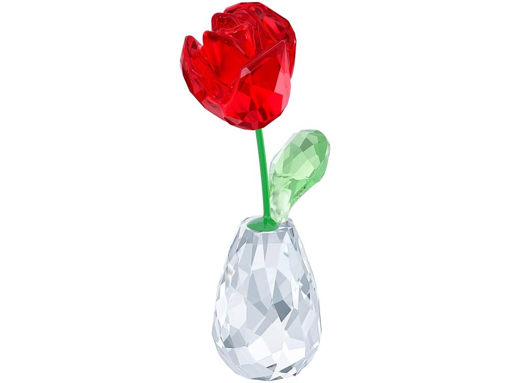 Красная роза в вазе. Swarovski