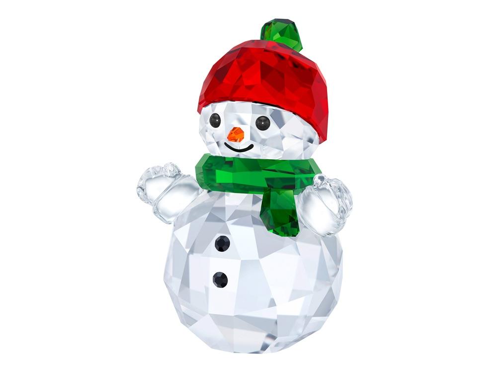 Снеговик с красной шляпой. Swarovski