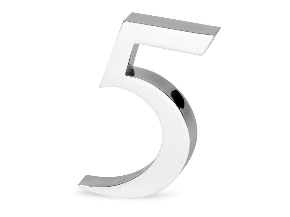 Цифра «Пять» для часов 628089 и 628099, серебристый