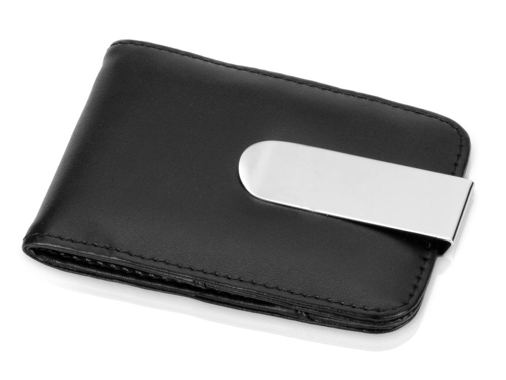 Визитница с зажимом для денег и отделениями для хранения карт памяти и SIM-карт, черный