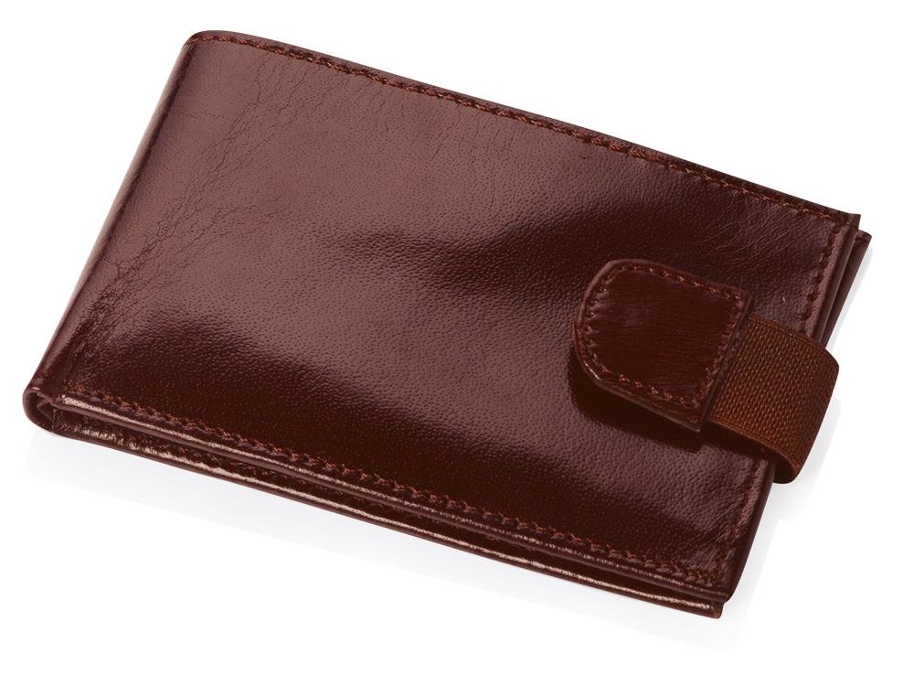 Визитница с отделениями для кредитных карт, коричневый