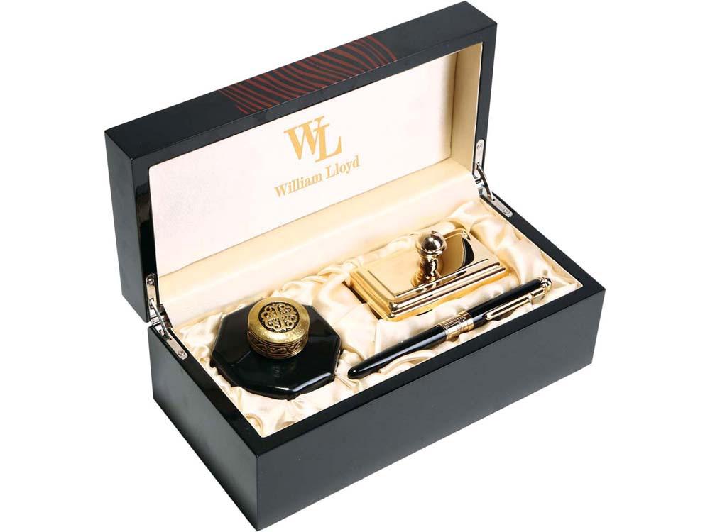 Набор William Lloyd : ручка перьевая, чернильница, блоттер