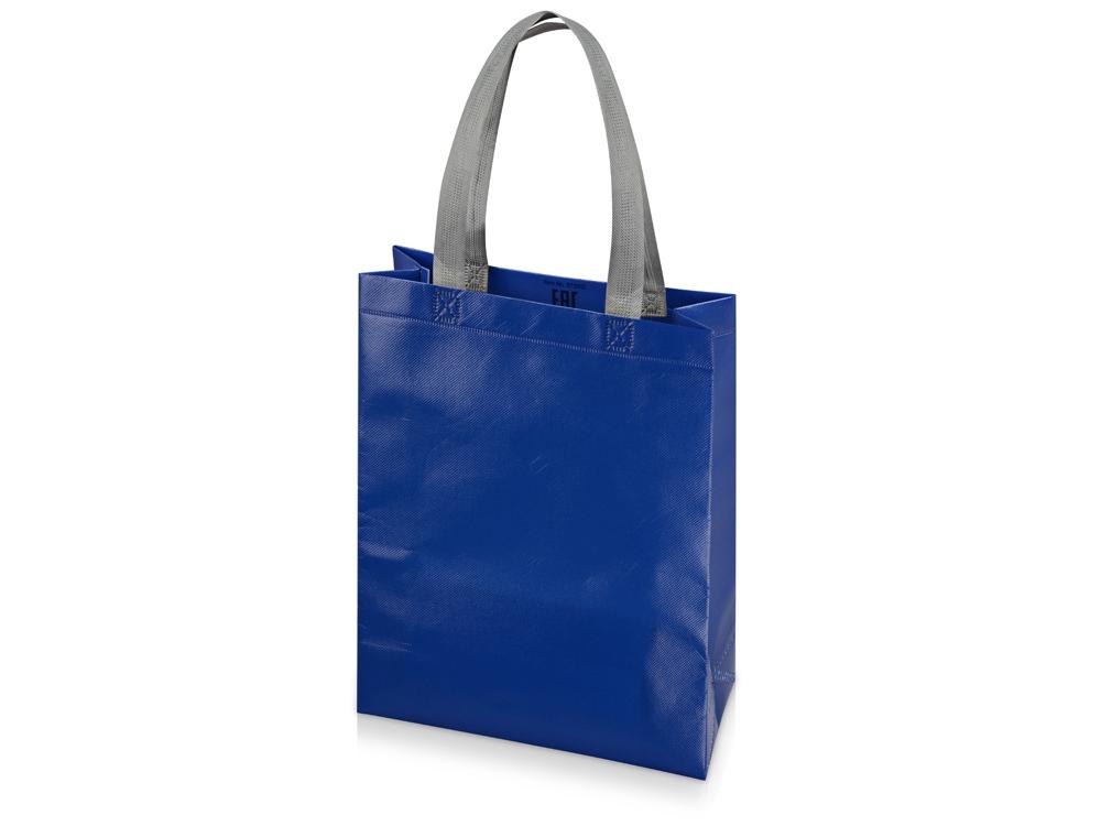 Сумка для шопинга «Utility» ламинированная, синий глянцевый