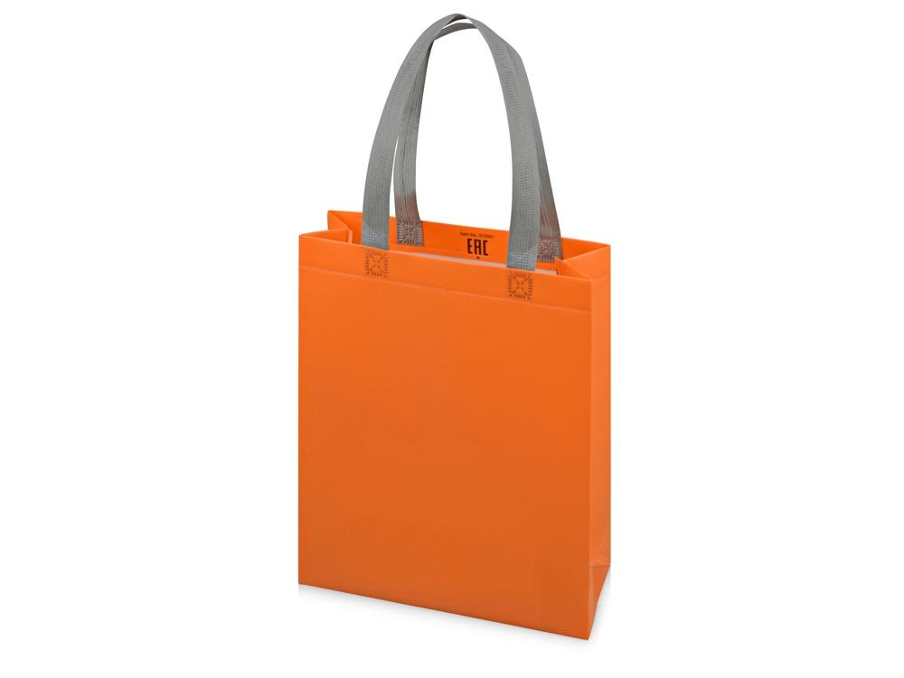 Сумка для шопинга «Utility» ламинированная, оранжевый матовый
