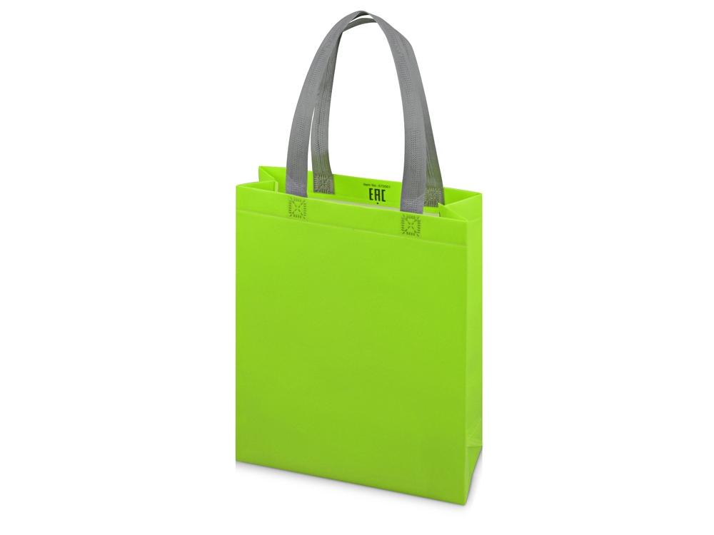 Сумка для шопинга «Utility» ламинированная, зеленое яблоко матовый