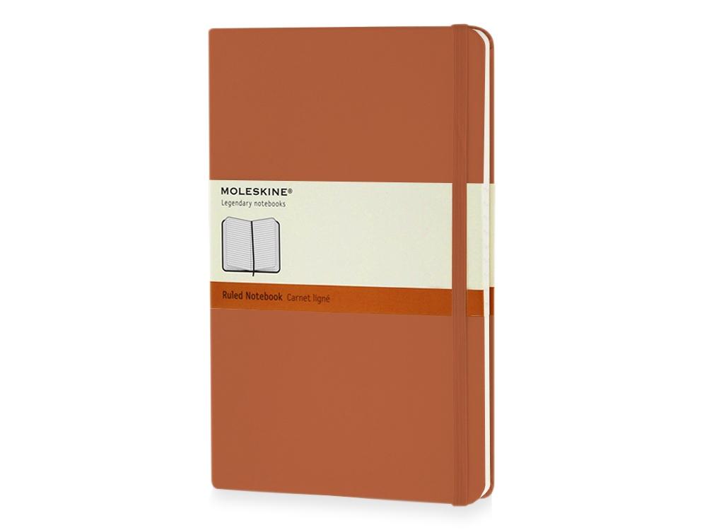 Записная книжка Moleskine Classic (в линейку) в твердой обложке, Large (13х21см), оранжевый коралл