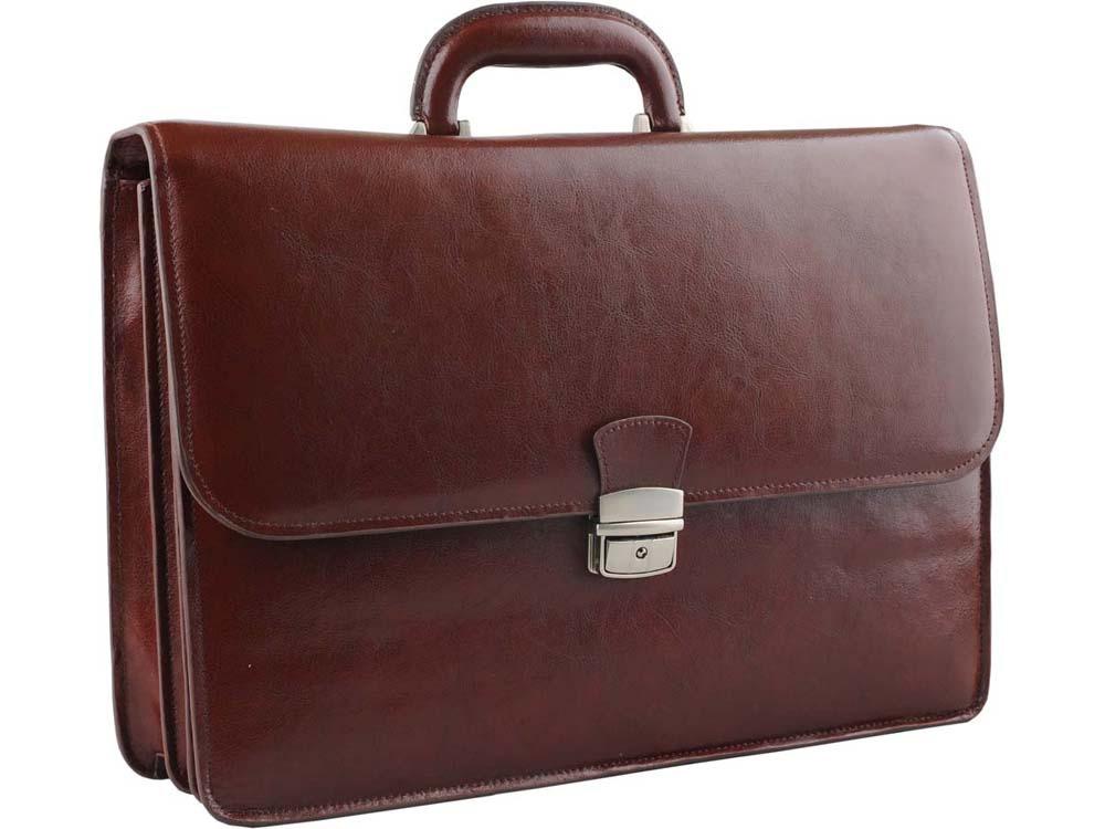 Портфель Alessandro Venanzi, коричневый