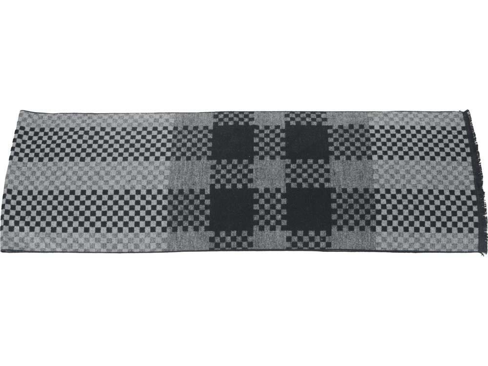 Шарф «Сенат», серый/черный