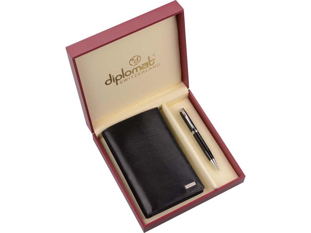 Набор Diplomat: мужское портмоне, ручка