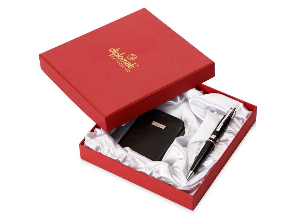 Набор Diplomat: визитница, ручка шариковая, черный