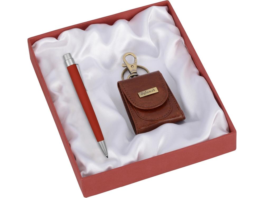 Набор Diplomat: брелок-монетница, ручка шариковая
