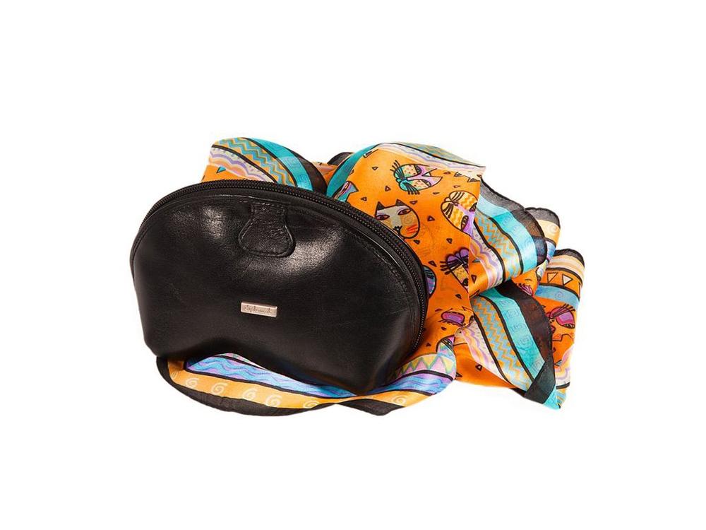 Набор Diplomat: платок, косметичка, разноцветный/черный