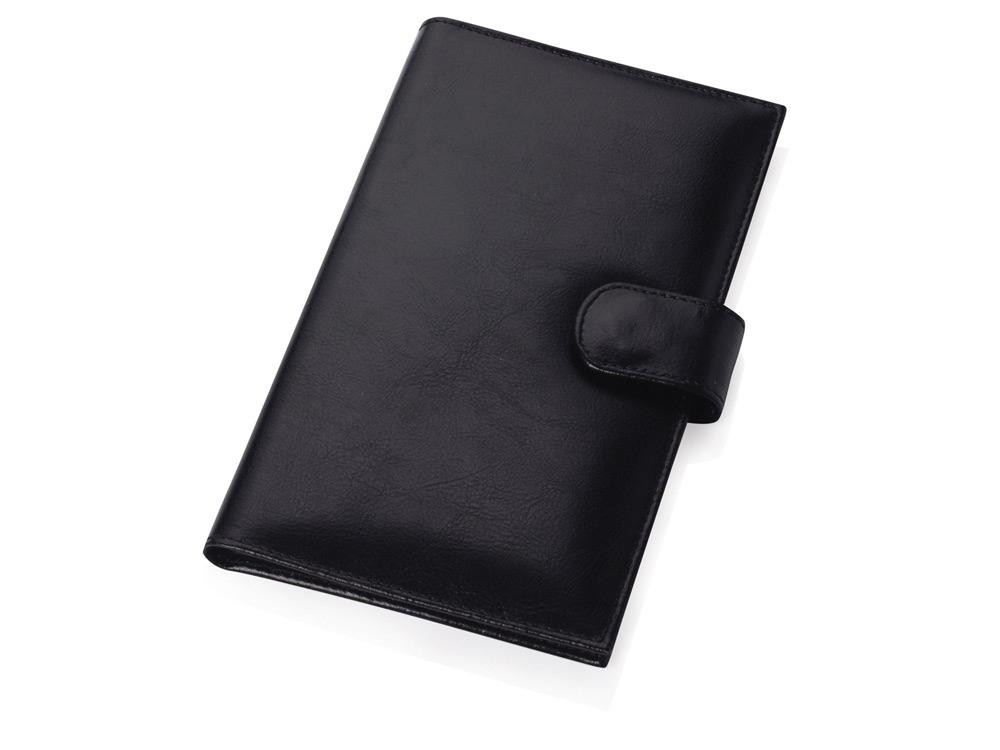 Визитница на 60 визиток с застежкой на магните, черный