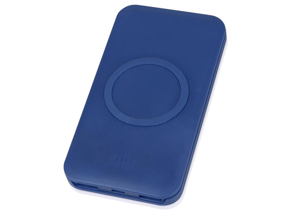 Портативное беспроводное зарядное устройство Impulse, 4000 mAh, синий