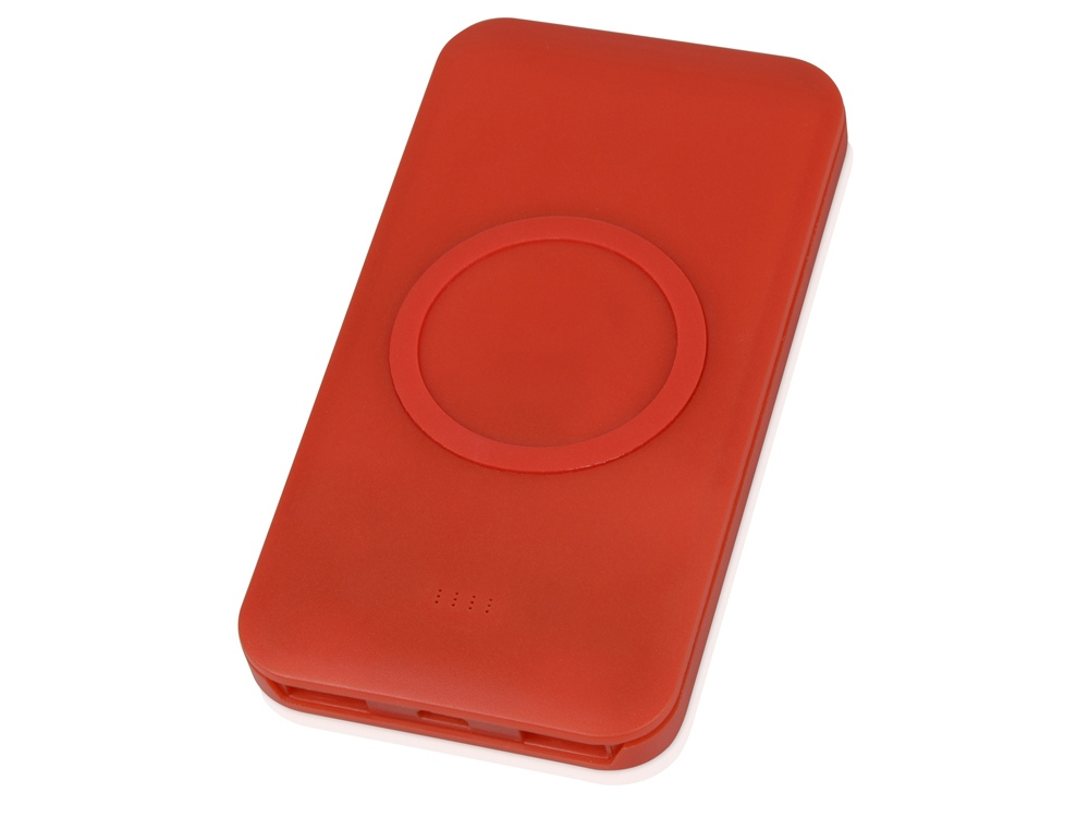 Портативное беспроводное зарядное устройство «Impulse», 4000 mAh, красный