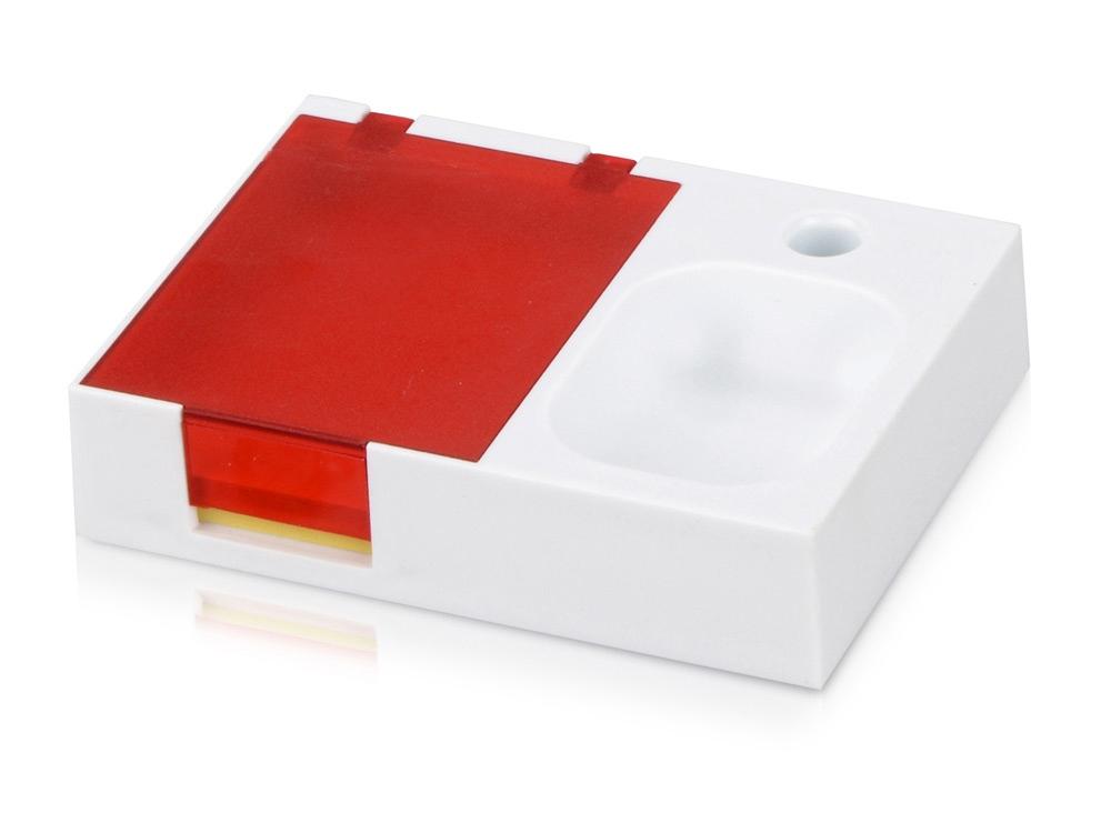 Подставка под ручку и скрепки «Потакет», белый/красный