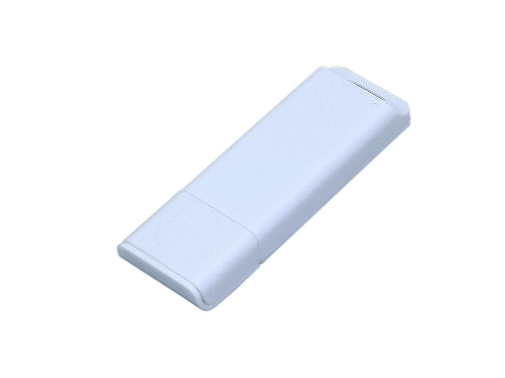 Флешка прямоугольной формы, оригинальный дизайн, двухцветный корпус, 16 Гб, белый