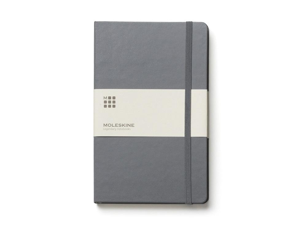 Записная книжка Moleskine Classic (в линейку) в твердой обложке, Pocket (9x14см), серый