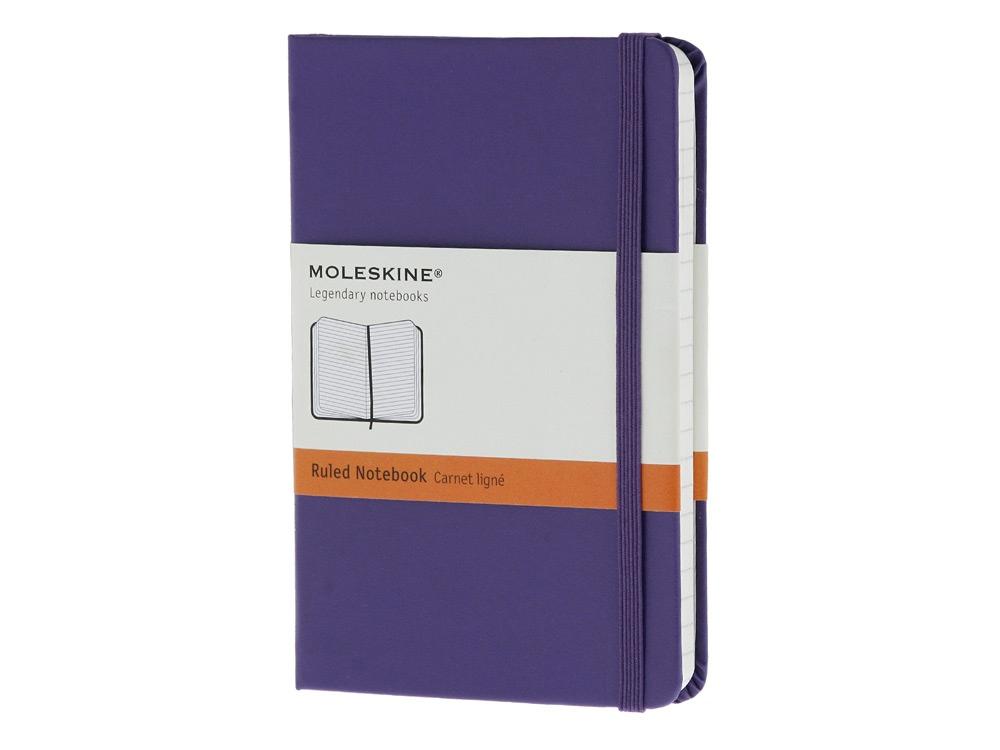 Записная книжка Moleskine Classic (в линейку) в твердой обложке, Pocket (9x14см), фиолетовый