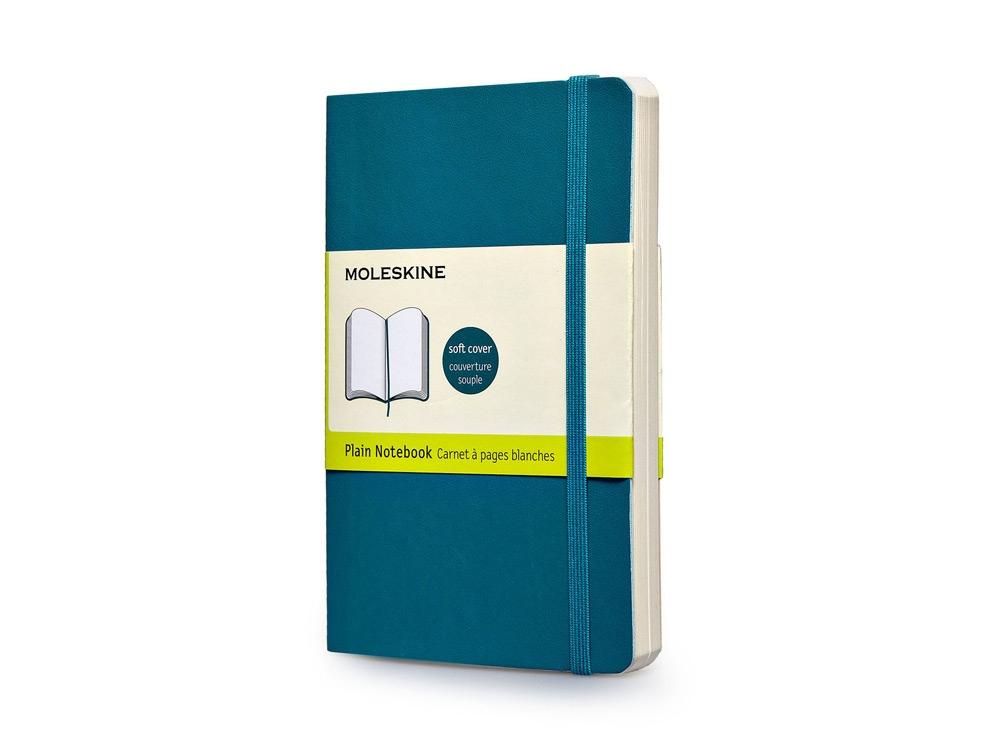Записная книжка Moleskine Classic Soft (нелинованный), Pocket (9х14 см), бирюзовый