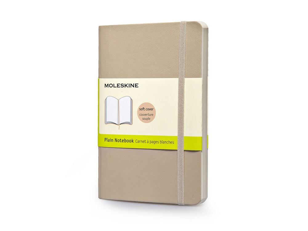 Записная книжка Moleskine Classic Soft (нелинованный), Pocket (9х14 см), бежевый