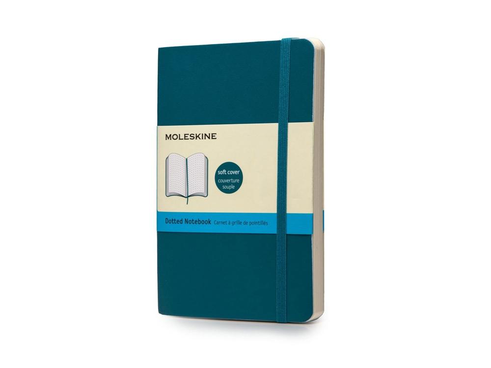Записная книжка Moleskine Classic Soft (в точку), Pocket (9х14 см), бирюзовый