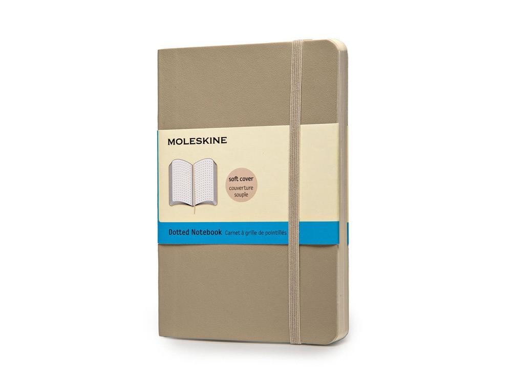 Записная книжка Moleskine Classic Soft (в точку), Pocket (9х14 см), бежевый