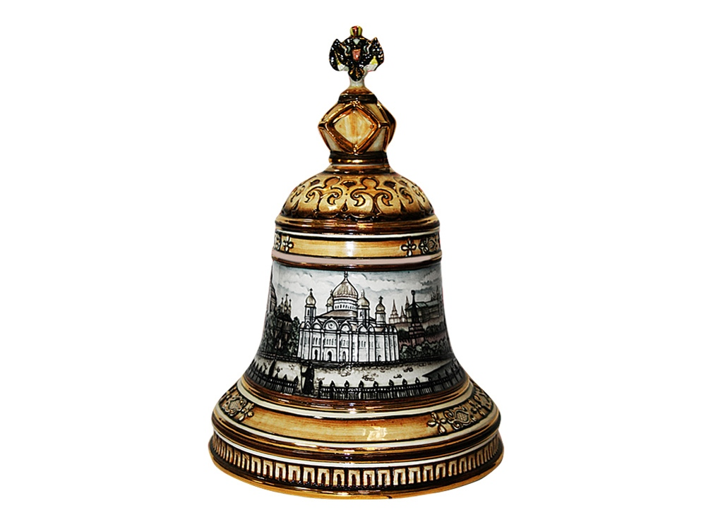 Штоф «Колокол» (цветной с золотом), 2,5л