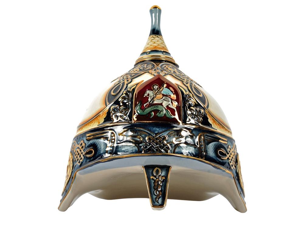 Штоф «Шлем» (цветной с золотом), 3л