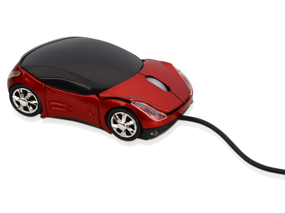 Мышь оптическая Спорткар, красный