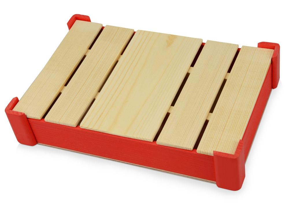 Подарочная деревянная коробка, красный