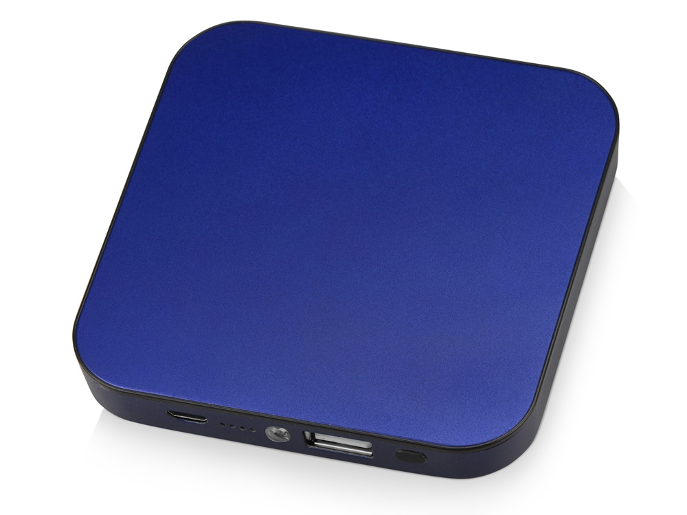 Портативное зарядное устройство на 4000 mAh с литий-полимерной батареей в компактном корпусе из металла, синий