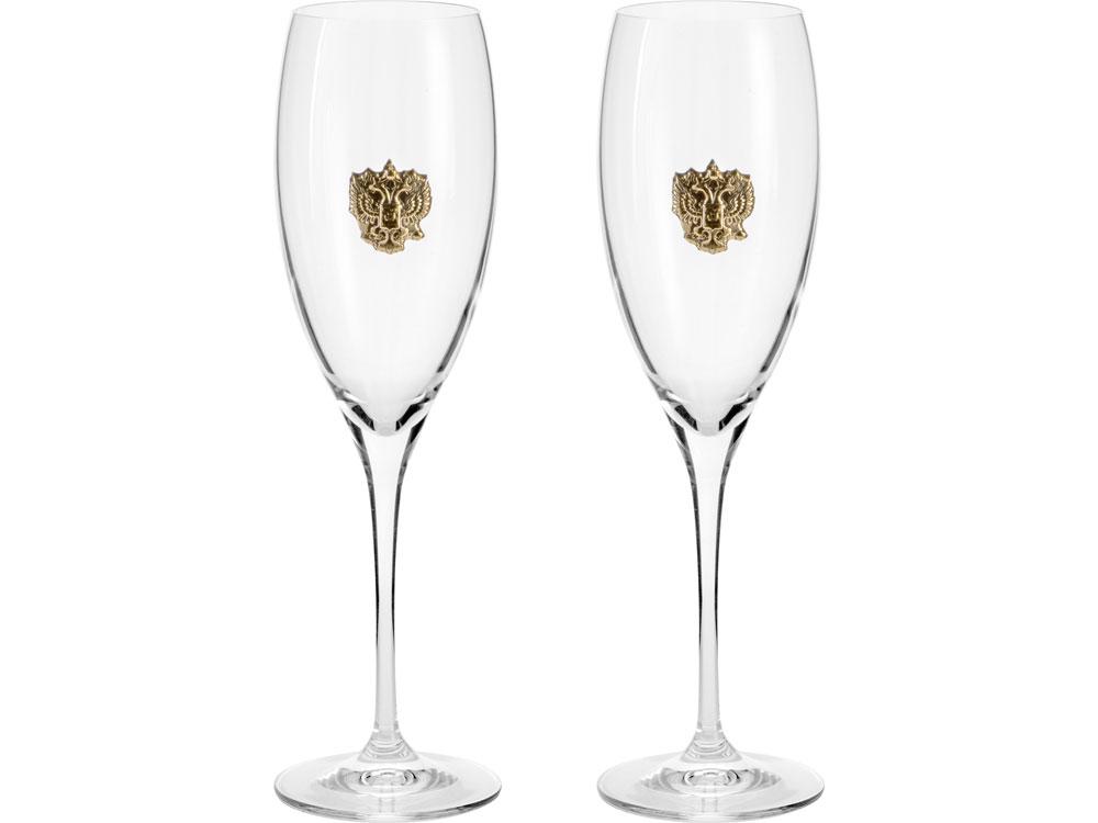 Набор бокалов для шампанского «За Россию» Chinelli