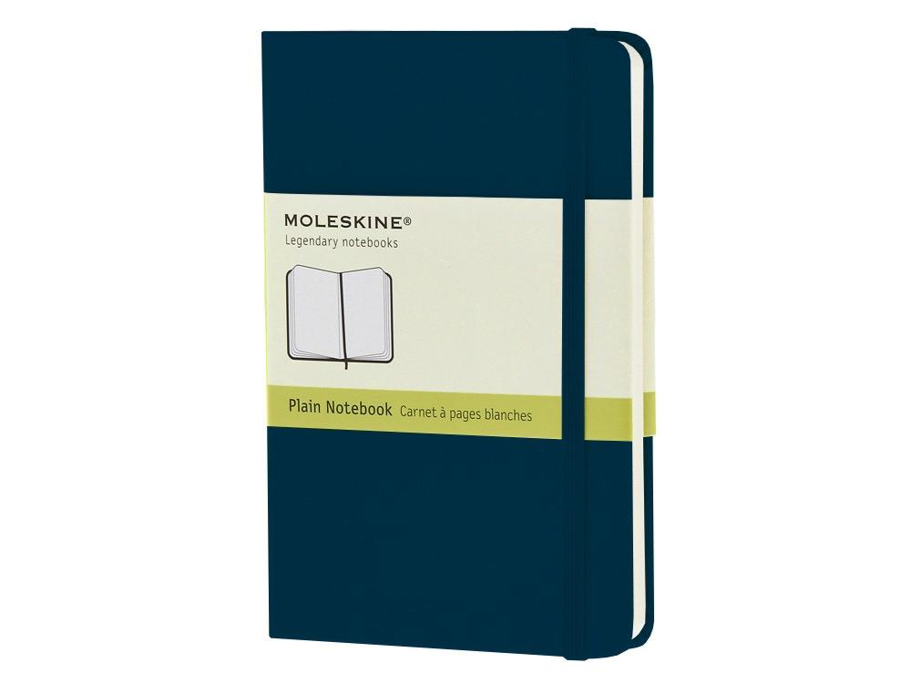 Записная книжка Moleskine Classic (нелинованный) в твердой обложке, Pocket (9x14см), голубой сапфир