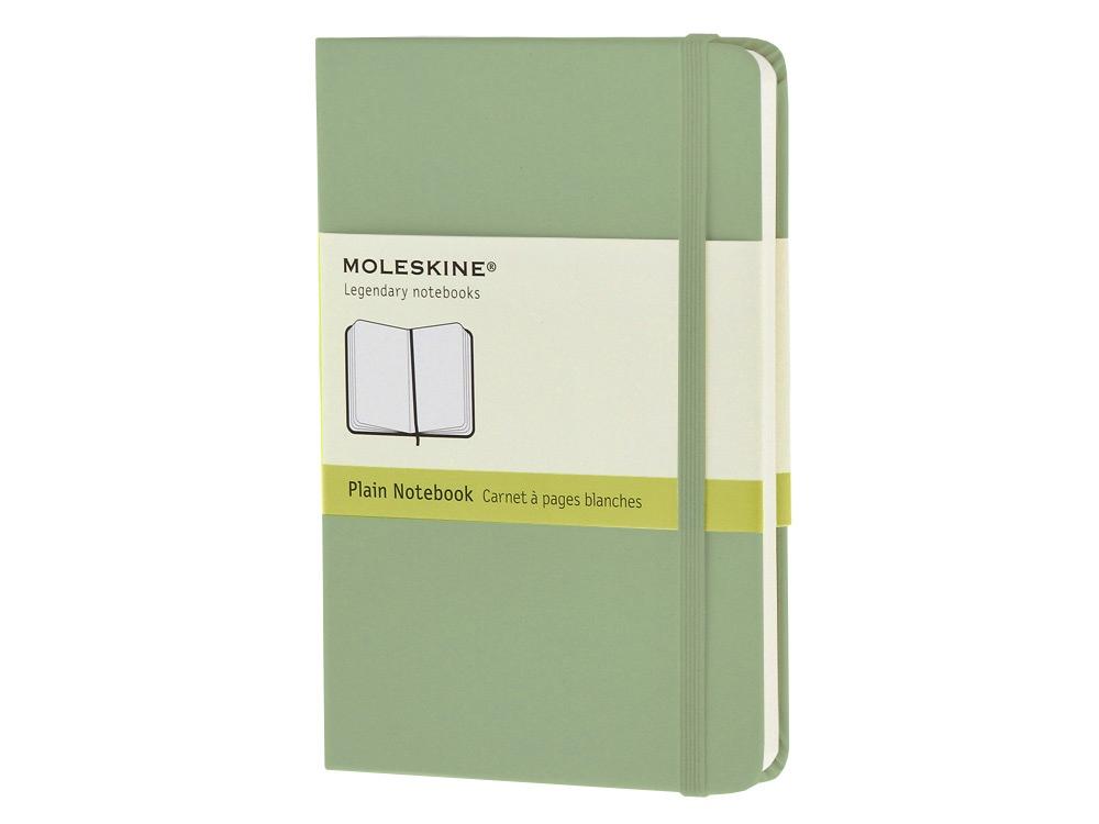 Записная книжка Moleskine Classic (нелинованный) в твердой обложке, Pocket (9x14см), фисташковый