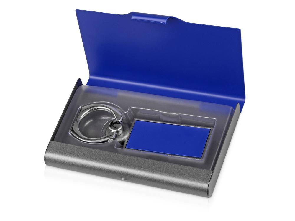 Набор Slip: визитница, держатель для телефона, серый/синий