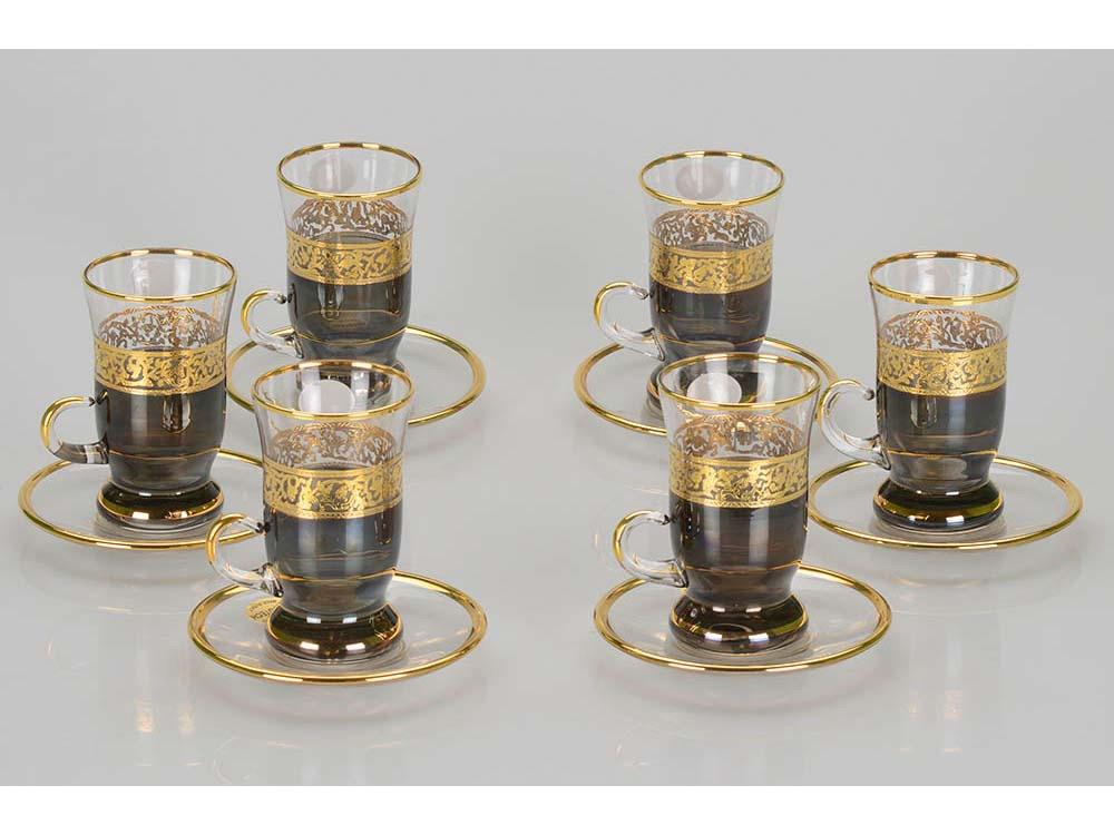 Чайный набор «Важное совещание», черный/золотистый
