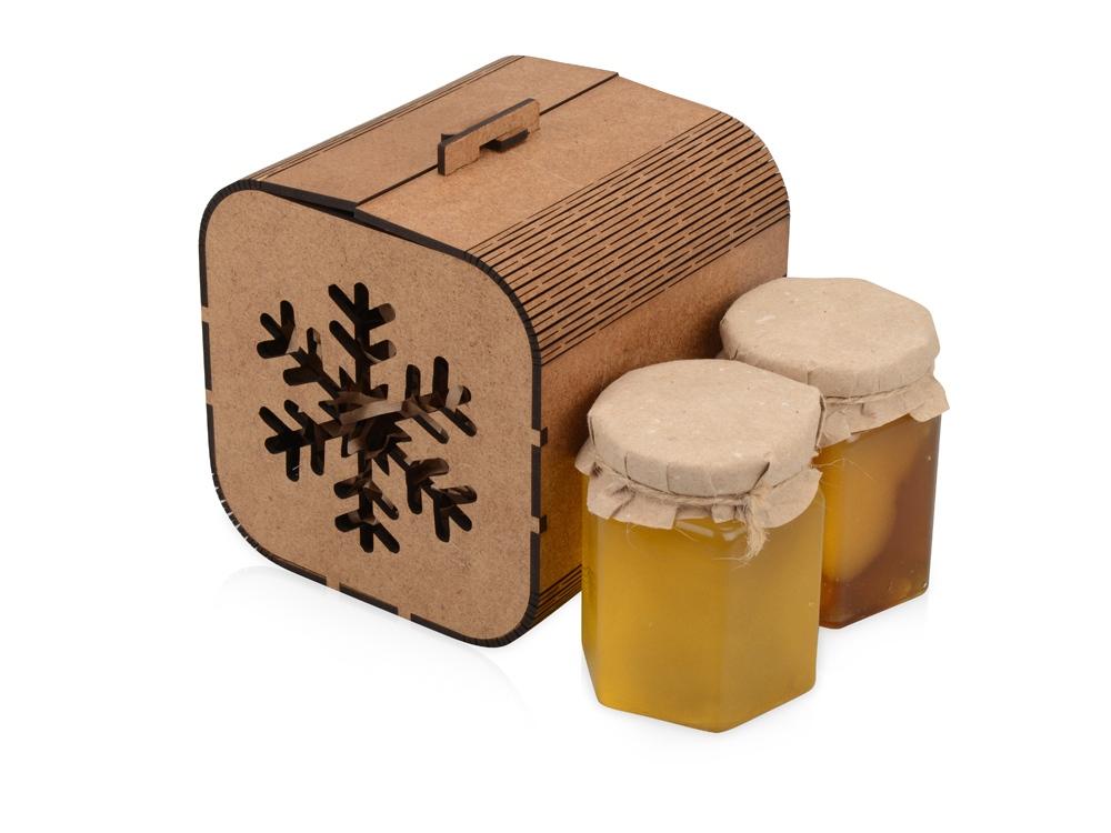 Подарочный набор «Taster» с двумя видами мёда, коричневый