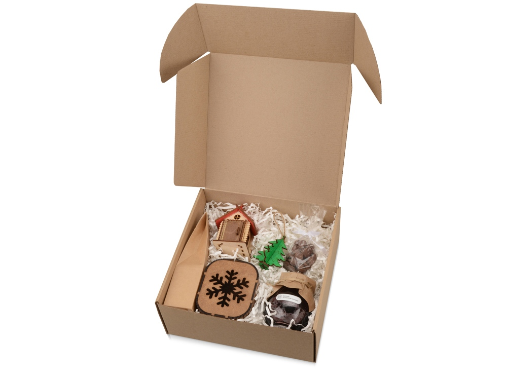 Подарочный набор Nevicata с вареньем и игрушками, крафт