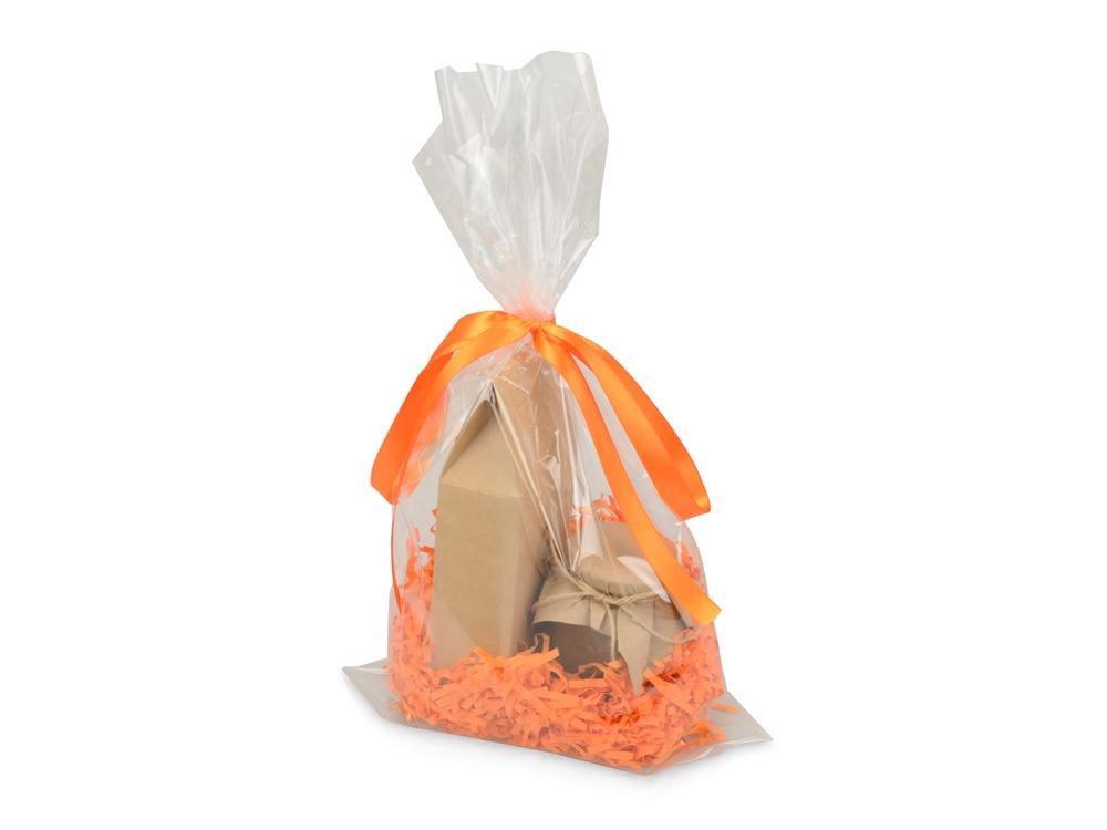 Подарочныйнабор«Fiore» с мёдом и чаем, оранжевый