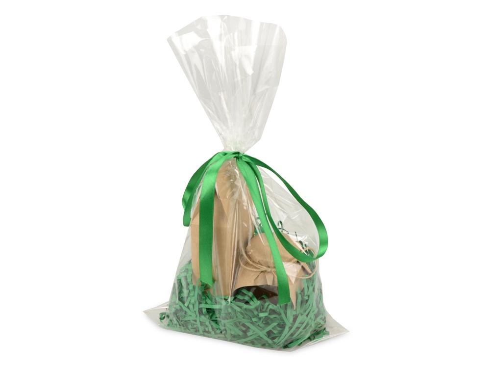 Подарочныйнабор«Fiore» с мёдом и чаем, зеленый