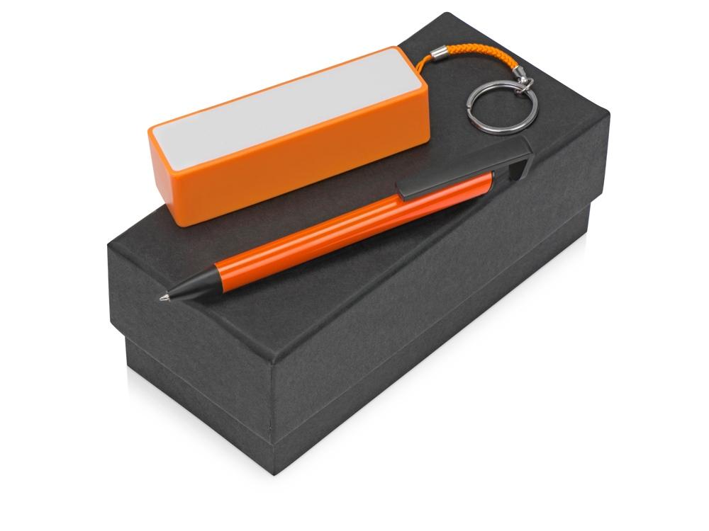 Подарочный набор Kepler с ручкой-подставкой и зарядным устройством, оранжевый