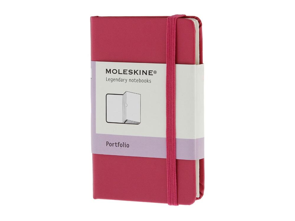 Папка Moleskine Portfolio (с кармашками), ХSmall (6,5x10,5см), розовый