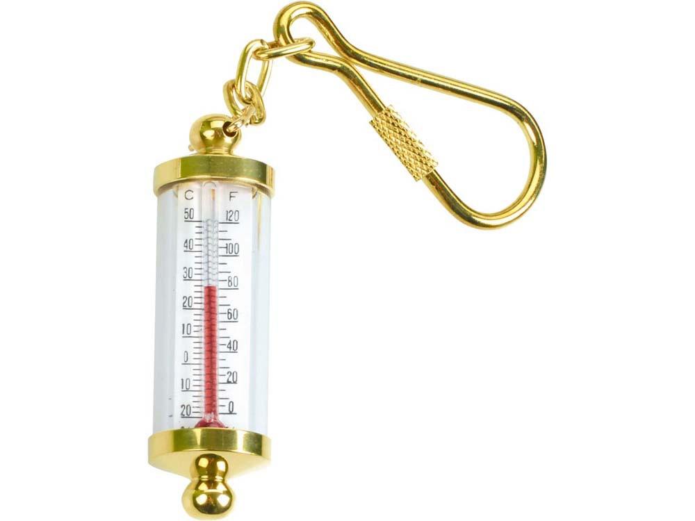 Брелок-термометр, золотистый