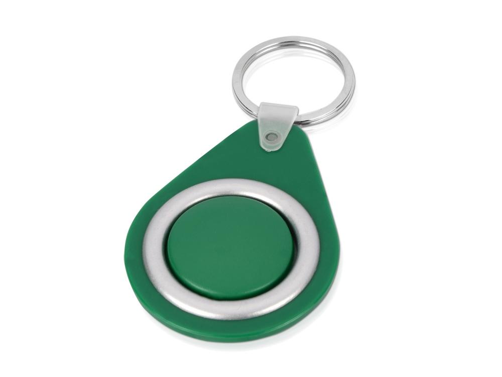 Брелок с вращающимся элементом, зеленый/серебристый