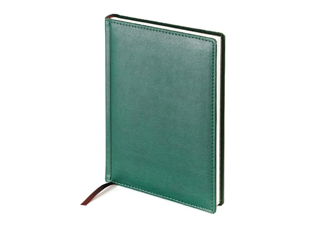 Ежедневник А5 недатированный Leader, зеленый