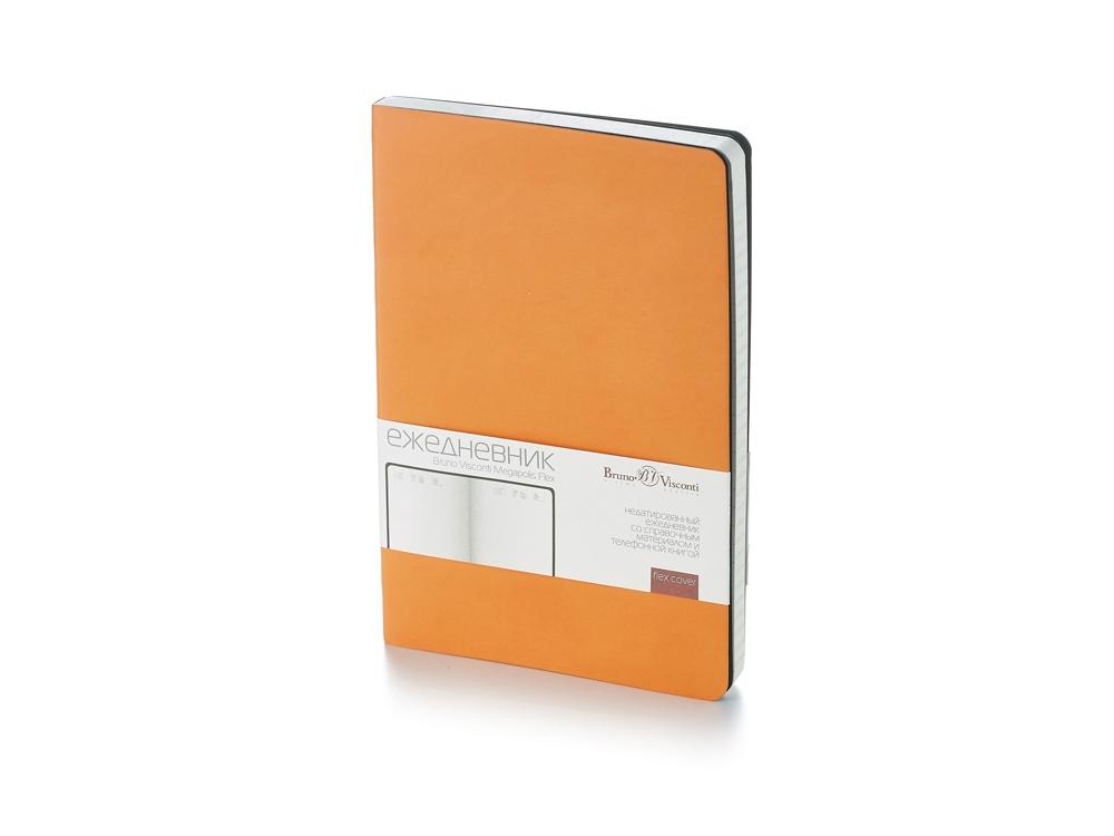 Ежедневник А5 недатированный «Megapolis Flex», оранжевый