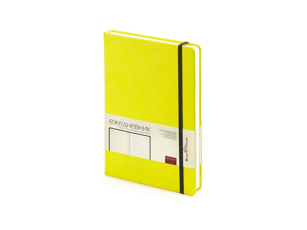 Ежедневник А5 недатированный «Megapolis Velvet», желтый